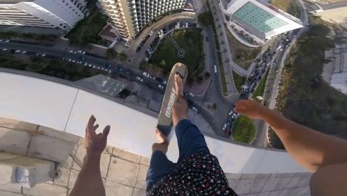 在30层楼顶作死,世界上最危险的运动,一失足成千古恨