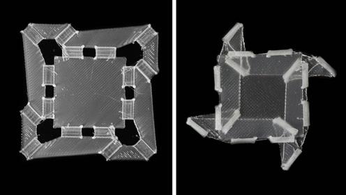 哈佛发明软体折叠机器人,移动变形不用电,革命性技术