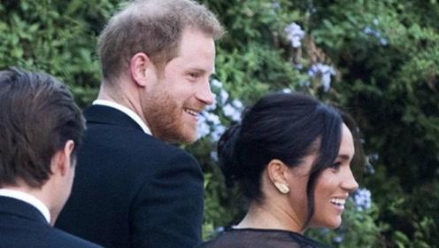 梅根王妃与哈里王子手牵手现身罗马,黑色礼裙造型成全场焦点!