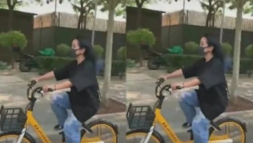 何洁街头猛骑车积极减肥 身体力行回应怀孕传闻