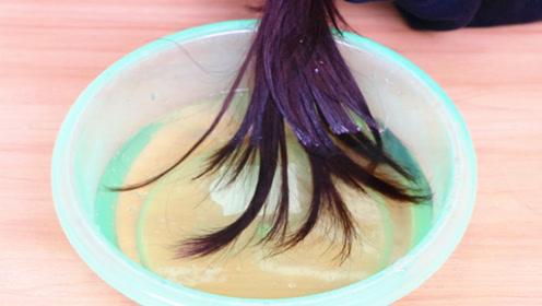 洗完头,在盆里倒点啤酒泡头发,效果太棒了,神奇又管用,去试试