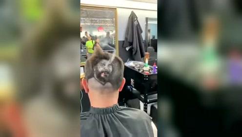 这个发型看着是不错,就是头顶有点冒烟?