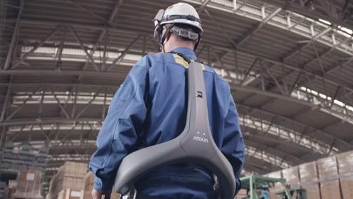 日本发明动力辅助服,专为老年人设计,可为腰部提供10公斤助力