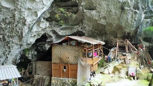 """无人机拍到的贵州神秘山洞,竟有着""""山顶洞人""""!你敢进去吗?"""