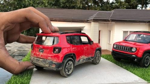 吉普越野车模型拆箱