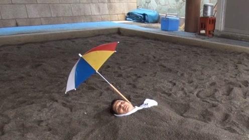 """日本奇葩""""温泉"""",用沙子直接将人""""活埋"""",游客十分喜欢!"""