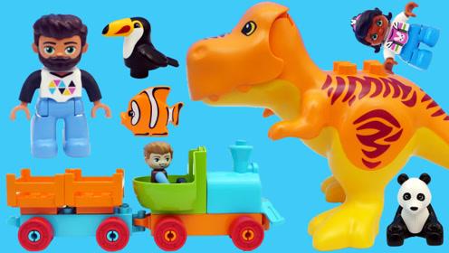乐高LEGO的动物园场景积木玩具