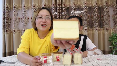 """小翔哥推荐的""""云蛋糕"""",没买到枕头那么大的有点小遗憾"""