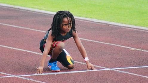 最快速度的孩子,仅7岁就超越飞人,他很有信心打败博尔特!