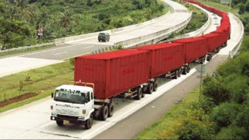 世上最长的货车面世,100万年薪都请不到司机,只因太难操控!
