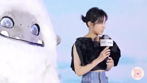 电影《雪人奇缘》发布会,中文版配音张子枫坦言有一些压力!
