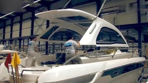神奇的造船工艺:现代技术制造玻璃钢游艇全过程欣赏
