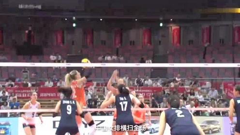 中国女排一招制服对手,连续3次拦网得分,气得对手紧急叫停