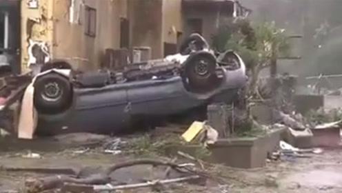 日本千叶突发龙卷风致1死5伤 大面积停电77万户居民受影响