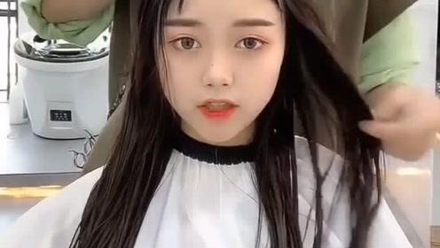 圆脸萌妹子发型这样剪,秒变气质女神