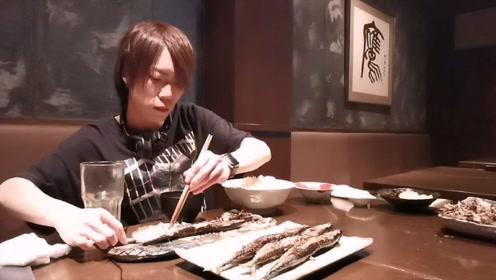 一次你能吃多少斤鱼?日本小伙挑战4.3公斤鱼
