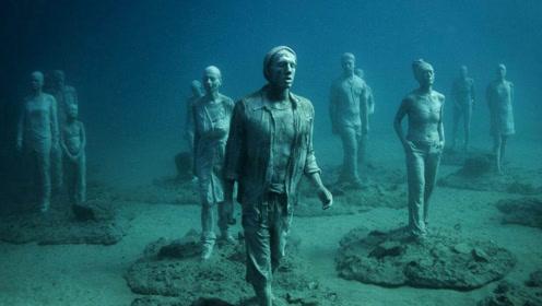 海底还存在着一群石人?被男子潜水时无意间发现!背后意义重大!