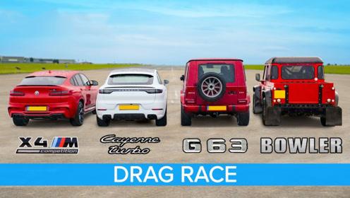 同样是SUV,和奔驰宝马路虎比加速,才知道保时捷卡宴有多快?