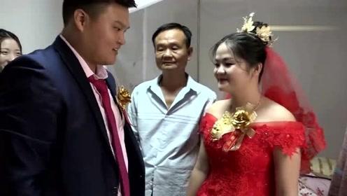 福建一位65大爷,今天女儿出嫁了,新娘长得好像爸爸
