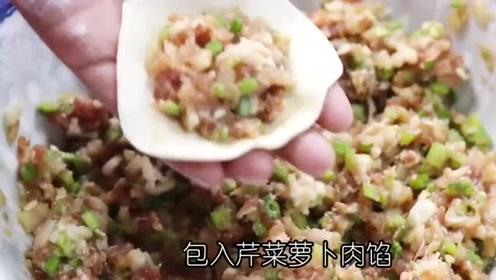 美味鲜香的水煎饺子,挑食的人都爱吃的不行,味道让人终身难忘