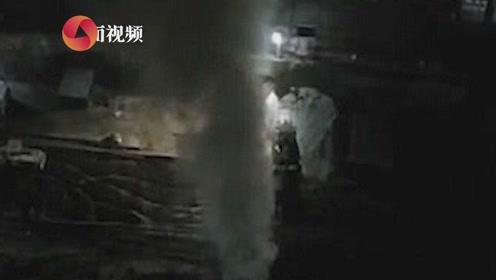 西安燃气管道破裂气体喷射数米高 居民:5天内第3次了