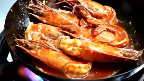 大家知道老虎虾吗?老虎虾的制作过程,色泽鲜艳看起来很有食欲