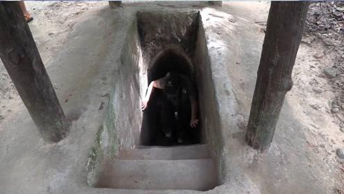 """越南""""地下城""""被发现,入口不到一米,底下却藏着个繁华大世界"""