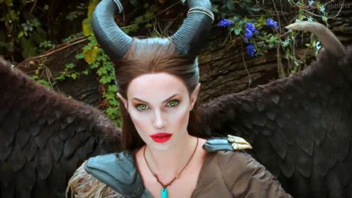 美女仿妆沉睡魔咒邪恶王后,化妆打扮后你觉得像吗?
