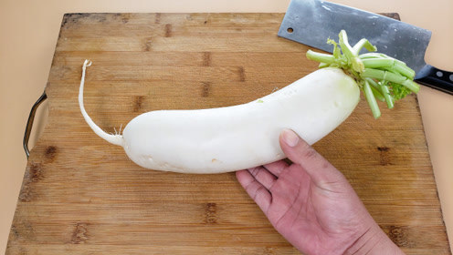 萝卜这样吃真过瘾!很多人吃过但不会做,诀窍超简单,10分钟搞定