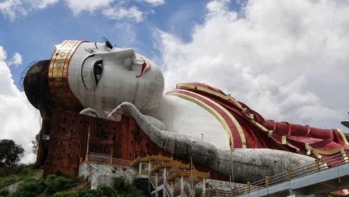 世界上最诡异的佛像,缅甸地区就有一个,夜里看还挺恐怖