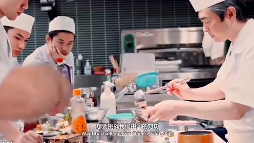 同样是刀工,日本厨师切三文鱼,中国厨师切豆腐,差距挺大的