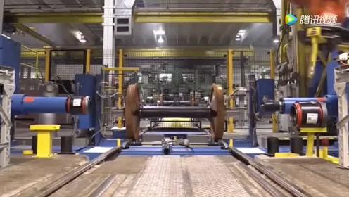 火车轮轴承自动安装,ABB机械手效率就是高