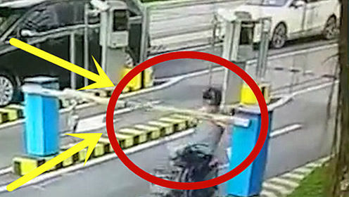 看着都疼!女子骑车不看路,2秒后飞出几米后倒地不起!