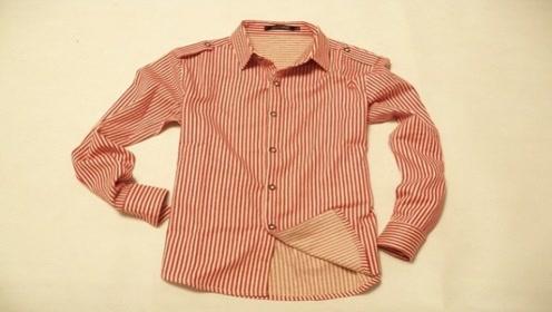 旧衬衫美女从来不丢,简单改造下,成品闺蜜几百想买都没舍得卖