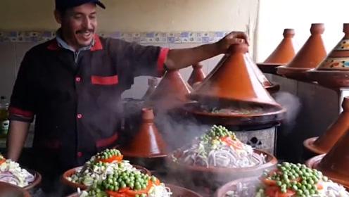 """摩洛哥是北非的阿拉伯国家,当地人人都爱吃""""塔吉锅"""""""