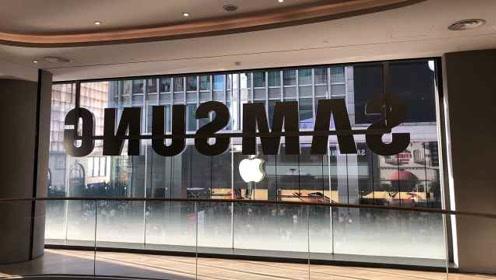 三星中国首家旗舰体验店开业,门口正对苹果店