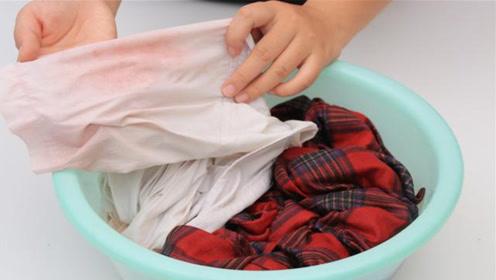 衣服染色没法穿,洗衣店师傅教我一招,无论染上什么颜色都能洗掉