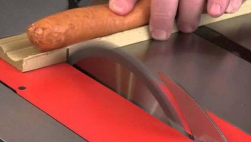 外国牛人发明智能电锯,碰到手指就会自动停止,设计师亲手实验!