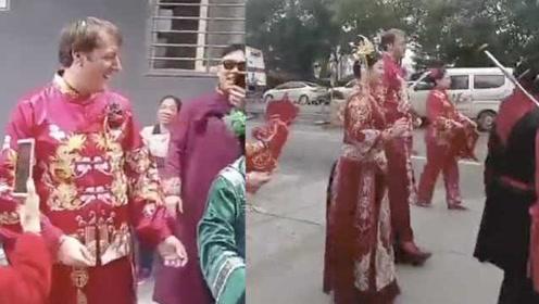 用身高取名!英国小伙娶山西姑娘,名字太长被嫌取中文名叫两米