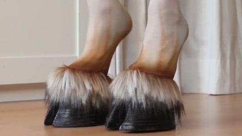 """看不懂的时尚,网络爆火的""""马蹄""""高跟鞋,一般人可驾驭不了"""