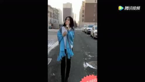 黑龙江美女户外一首天在下雨我在想你!歌声婉转悠扬真好听!