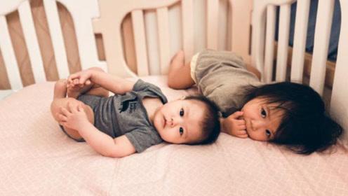 江宏杰晒儿女近照 两个宝宝眼睛大大神似爸爸妈妈