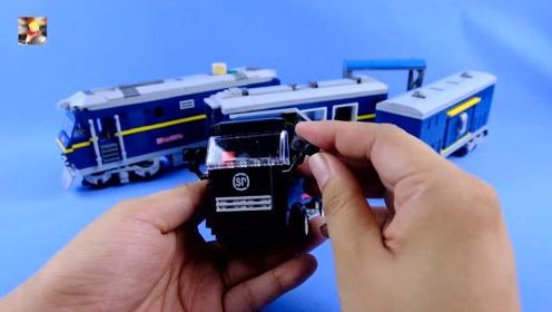 用积木搭建经典的火车头:开智积木东风D11Z火车评测