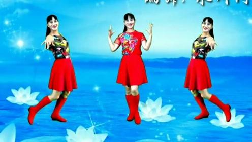 永川阿玉广场舞《天下醉美花舞人间》动作优美的水兵舞