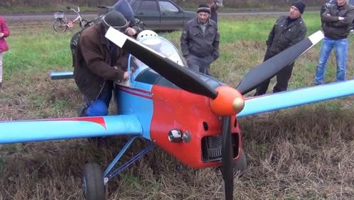 农村七个60岁大老爷打造飞机,麦地里成功试飞!能升天500米!