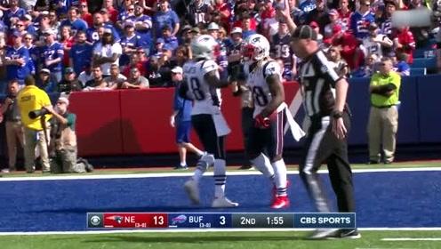 NFL常规赛:比尔队脚球给6分?直到后面才把分数修改了过来。