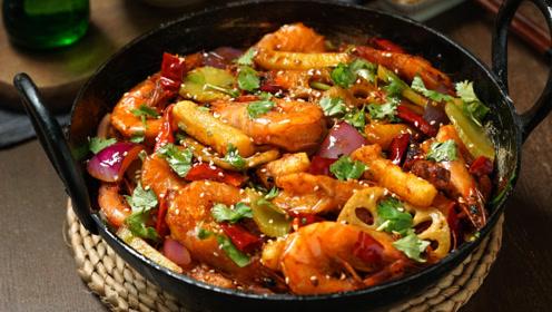香到能连壳吃,干锅虾不愧是虾中最香的做法!