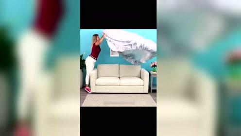 原来床单也可以做成沙发套,你学会了吗