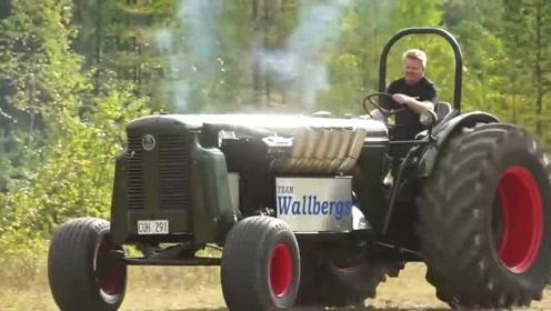 霸气外露,拖拉机居然有六缸的,真想试试,最大能拉多少吨