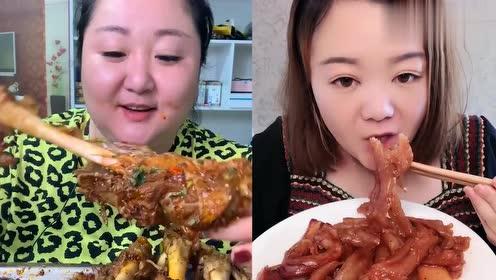 吃播胖姐吃酱香小羊腿,看她吃饭的样子,口水马上就忍不住了!